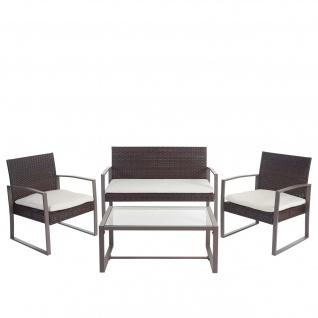 2-1-1 Poly-Rattan Garten-Garnitur Siana, Sitzgruppe inkl. Kissen, extra breite Sitze