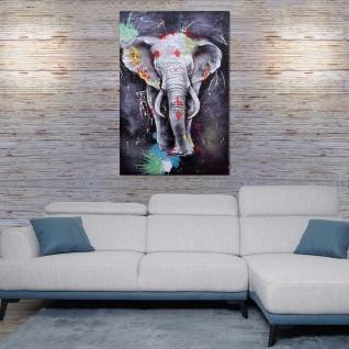 Ölgemälde Elefant HWC-H25, Leinwandbild Wandgemälde Gemälde, handgemaltes XL Wandbild