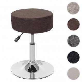 Hocker HWC-C22, Sitzhocker Schminkhocker, höhenverstellbar Ø 35cm