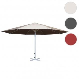 Sonnenschirm Meran II, Gastronomie Marktschirm, Ø 5m Polyester/Alu Mast weiß 28kg