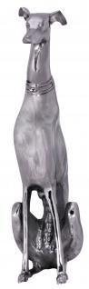 Deko Windhund A109, Figur Dekofigur Hund Skulptur Statue, Aluminium, 70x18x25cm