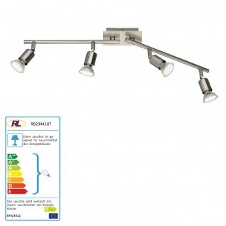 Reality|Trio LED Deckenleuchte Deckenlampe nickel matt inkl. Leuchtmittel