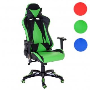 Profi-Bürostuhl Loksa T682 XXL, Drehstuhl Racing-Chair Gaming-Chair, 150kg belastbar Kunstleder