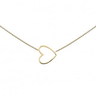 heart to get N35BHE12G Damen Collier Herz Silber vergoldet 44 cm