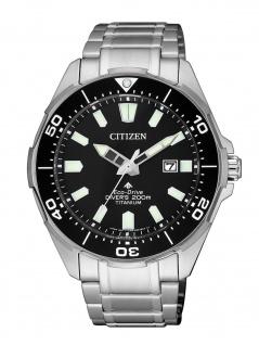 Citizen BN0200 Promaster Eco-Drive Taucheruhr Uhr Titan Datum Silber - Vorschau