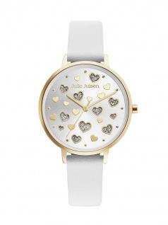 Julie Julsen JJW60YGL-9 Uhr Damenuhr Lederarmband Weiß