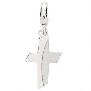 Basic Silber 22.VX421 Damen Charms Kreuz Silber