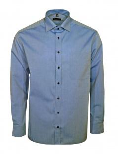 Eterna Herren Hemd Langarm Comfort Fit 8504/15/E187 Blau XL/44