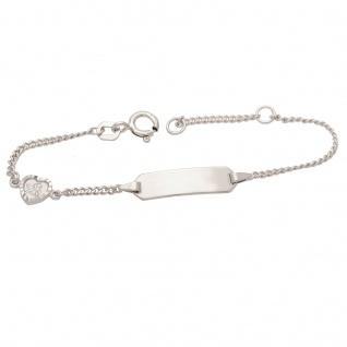 Basic Silber SAB21 Mädchen Armband Herz mit Schutzengel Silber 14 cm