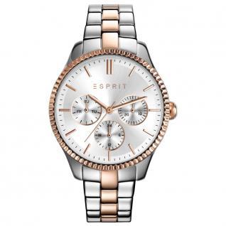 Esprit esprit-tp10894 two tone rosé gold Uhr Damenuhr Datum silber