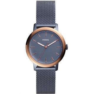 Fossil ES4312 NEELY Uhr Damenuhr Edelstahl Blau