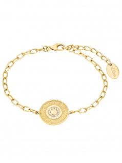 s.Oliver 2027622 Damen Armband Orientalisches Muster Gold weiß 20 cm