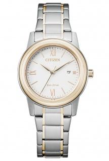 Citizen FE1226-82A Eco Drive Uhr Damenuhr Edelstahl Datum bicolor