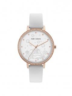 Julie Julsen JJW51RGL-9 Uhr Damenuhr Lederarmband Weiß