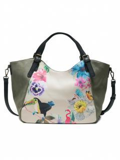 Desigual Damen Handtasche Tasche Lilac Rotterdam Grün 18saxfaa-4092 - Vorschau 2