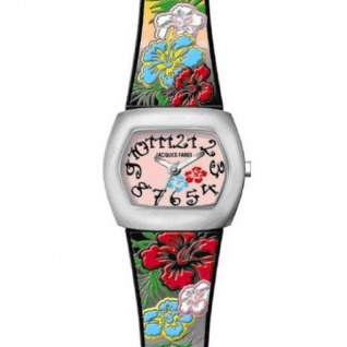 JACQUES FAREL CKD5558 Young Fashion Flowers - Blumen Mädchen Kinderuhr