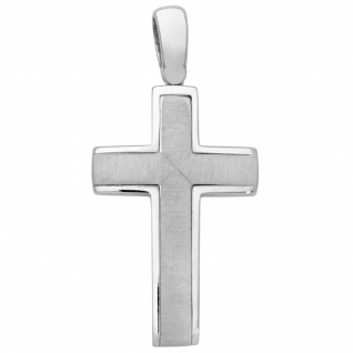 Basic Silber SKE25 Anhänger Herren Kreuz Silber