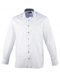 Eterna Herren Hemd Langarm Comfort Fit 8100/01/E14E Weiß XL/43
