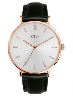 laVIIDA WVI2009R Vienna Uhr Damenuhr Lederarmband Schwarz