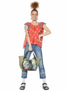 Desigual Damen Handtasche Tasche Lilac Rotterdam Grün 18saxfaa-4092 - Vorschau 3