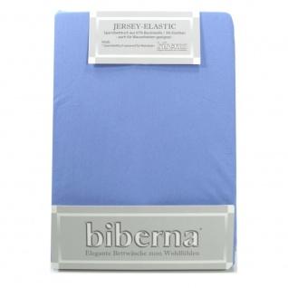 Biberna Jersey Elastic Spannbetttuch Eisblau 140 x 200 - 160 x 220
