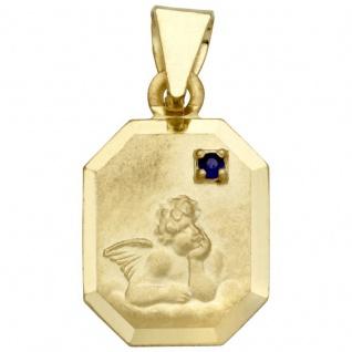 Basic Gold EN11 Kinder Anhänger Schutzengel 14 Karat (585) Gold