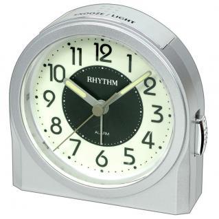 RHYTHM 8RE647WR19 Wecker Uhr Alarm Beige