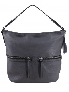 Esprit Damen Handtasche Tasche Henkeltasche Ivy Hobo Grau