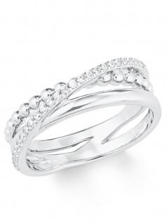 s.Oliver 2022750 Damen Ring Sterling-Silber 925 Silber Weiß 58 (18.5)