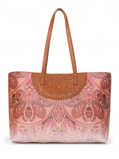 Desigual Damen Handtasche Tasche Shopper Winter Valkyrie Redmond Braun