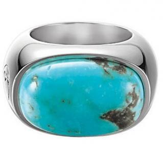Esprit ESRG-91484.C Damen Ring Silber soloist turquoise synth. Türkis Größe 53 (17, 0 mm)