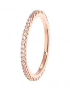 gooix 943-06727-520 Damen Ring Sterling-Silber 925 Rose weiß 52 (16.6)