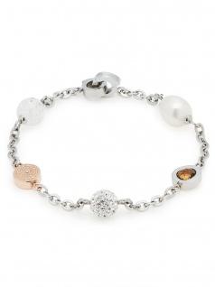 Leonardo Damen Armband Senso 1 Darlin's Bicolor Rose Weiß 18, 5 cm