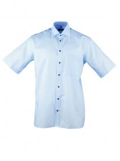 Eterna Herren Hemd Kurzarm Comfort Fit 3215/11/K147 Blau XL/43
