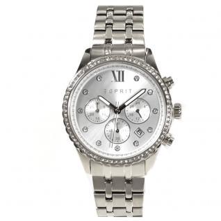 Esprit ES108732001 Chronograph Uhr Damenuhr Edelstahl Datum silber