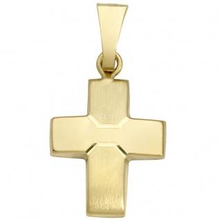 Basic Gold K24 Damen Anhänger Kreuz 14 Karat (585) Gelbgold