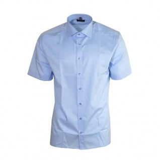 Eterna Herrenhemd Kurzarm Modern Fit Blau XXL/46 Hemden 8623/12/C177