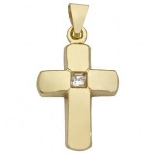 Basic Gold K21 Kinder Anhänger Kreuz 14 Karat (585) Gelbgold