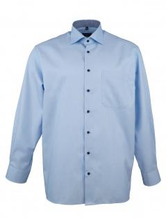 Eterna Herren Hemd Langarm Comfort Fit XL/43 Blau 3370/12/E15K