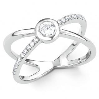 s.Oliver 2015136 Damen Ring Sterling-Silber 925 Silber Weiß 56 (17.8)