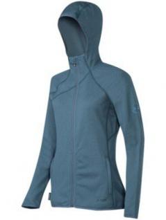 Mammut Fleece Übergangs Jacke Damen Get Away Hooded Jacket Blau Grau S