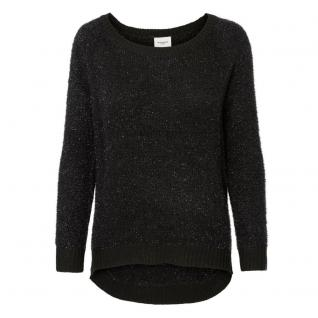 Vero Moda Damen Pullover Pulli LUCIA LS Off Shoulder Blouse Schwarz L