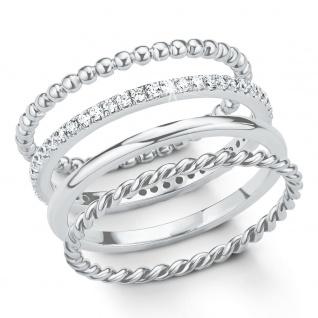 s.Oliver 2015040 Damen Ring Sterling-Silber 925 Silber Weiß 54 (17.2)