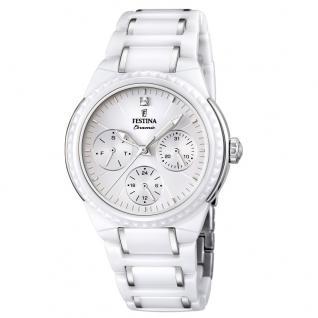 FESTINA F16699/1 KERAMIK Uhr Damenuhr kratzfestes Keramik Datum weiß