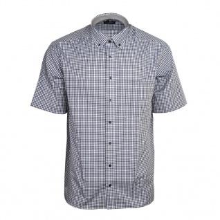 Eterna Herrenhemd Kurzarm Comfort Fit Braun kariert Hemd Hemden XXL/45