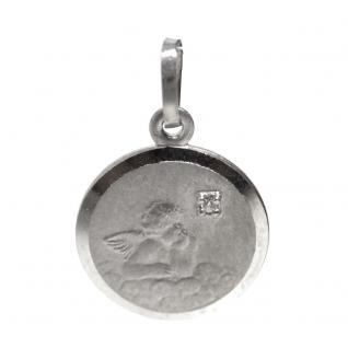 Basic Silber 22.224 Kinder Anhänger Schutzengel Silber Zirkonia weiß