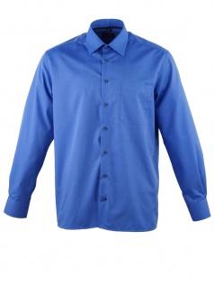 Eterna Herren Hemd Langarm Comfort Fit 3070/16/E18E Blau XL/43