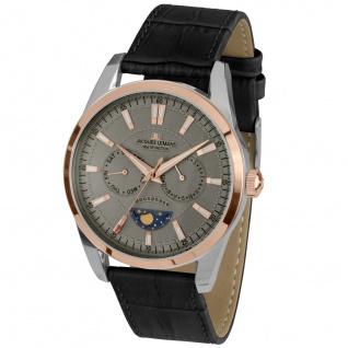 Jacques Lemans 1-1804C LIVERPOOL MOONPHASE Uhr Herrenuhr Leder schwarz