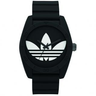 Adidas SANTIAGO Uhr Herrenuhr Kautschuk schwarz