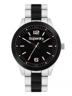 Superdry SYG288BSM Uhr Herrenuhr Metall Silber